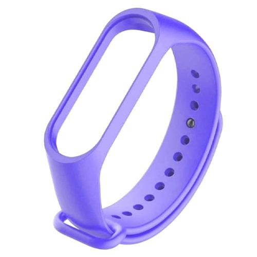 Ремешок для Xiaomi Mi Band 5 Васильковый, Фиолетовый  - купить со скидкой