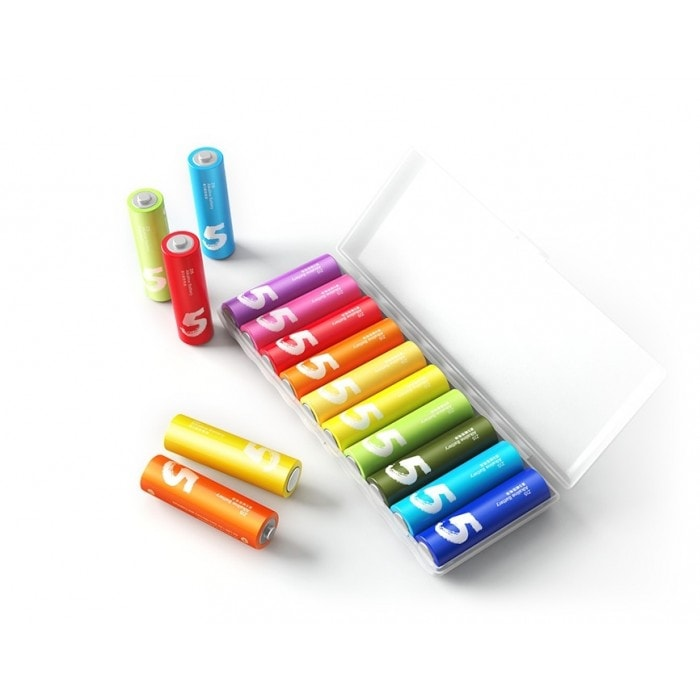 Набор батареек Xiaomi Rainbow 5 AA 10шт фото