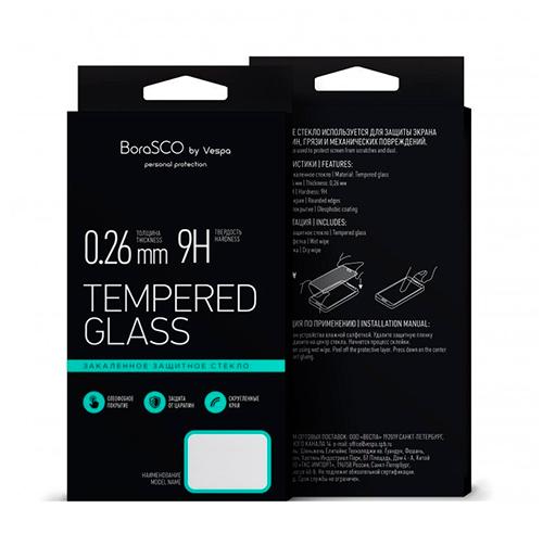 Защитное стекло BoraSCO Full Cover+Full Glue для Xiaomi Redmi 7 Черная рамка фото
