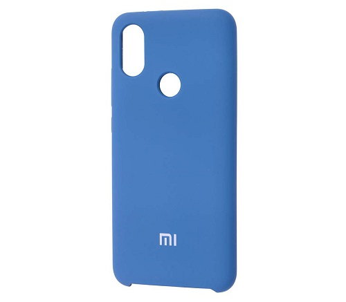 Накладка Silicone Case для Xiaomi Redmi Note 7 (Голубая) фото