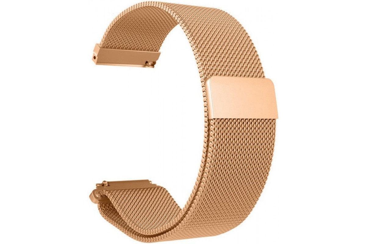 Миланский сетчатый браслет для Mi Amazfit Bip Metal Gold (Магнитный замок) фото