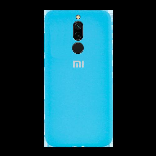 Накладка Silicone Case для Xiaomi Redmi 8 (Светло-синий) фото