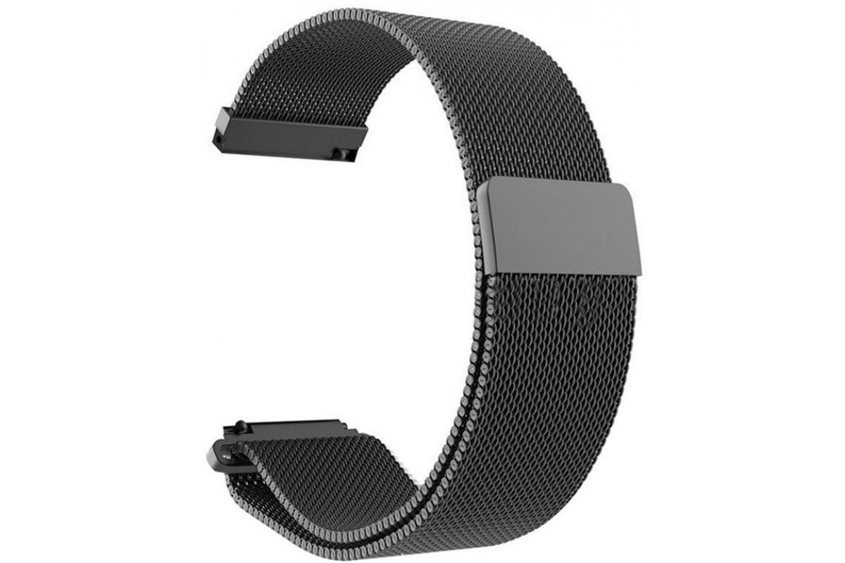 Миланский сетчатый браслет для Mi Amazfit Bip Metal Black (Магнитный замок) фото