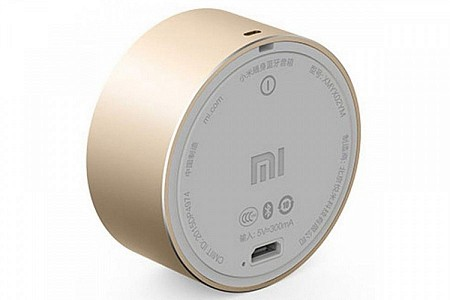 Портативная колонка Xiaomi Bluetooth Mi Portable Round Box Gold